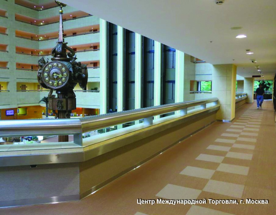 Вестибюль Центра Международной Торговли в Москве Now Bronze, Champagne5