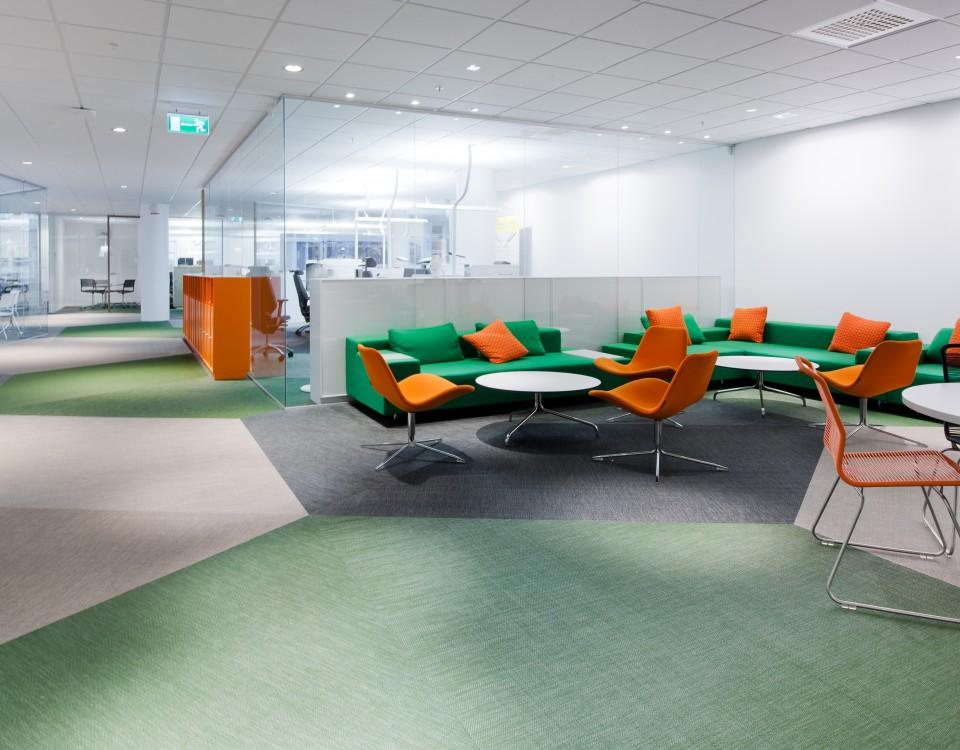 Офис Vasakronan в Упсале, Швеция Bolon Ivy, Osier, Picea