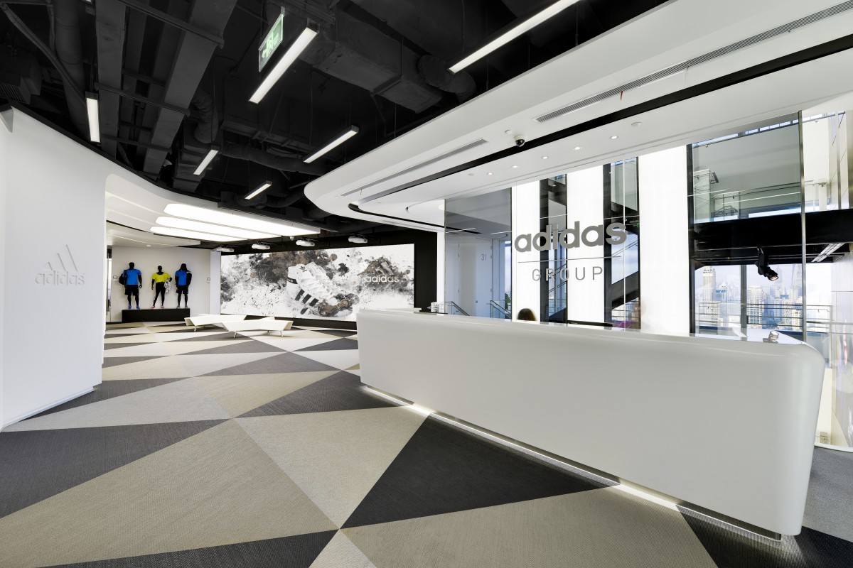 Офис Adidas в Шанхае, Китай Bolon BKB Sisal Plain Mole, Steel, Black